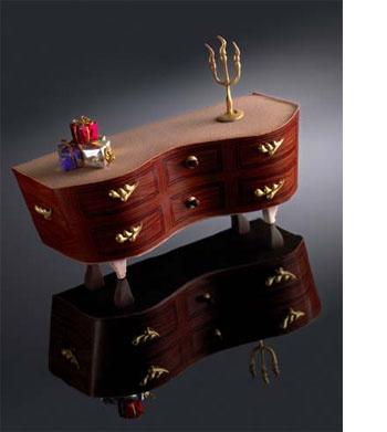 Pour Noël prochain le champion du monde de patisserie (2005) Christophe Michalak propose une bûche très originale en forme de commode, à découvrir à lHôtel