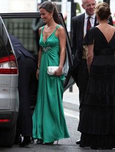 La robe verte de kate middleton au mariage