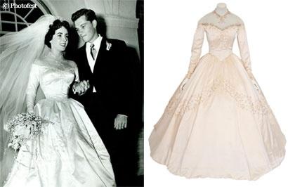 la robe de mari e d 39 elizabeth taylor vendue aux ench res